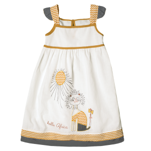 Hello Africa Sunshine Lion Chevron Dress