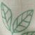White/Aqua Leaf