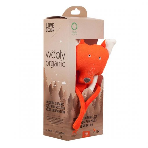 Wooly Organic Funky Feet Soft Toy Fox 00401-0