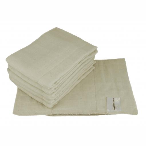 XKKO Organic 100/% Unbleached Cotton Prefold Nappies Regular Natural EU MADE 6pk