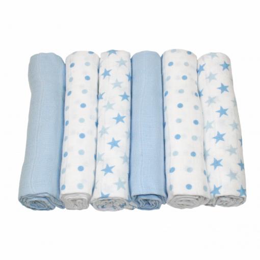 MuslinZ 6PK Baby Muslin Squares Cloths 70cms 100/% Pure Soft Cotton Mouse